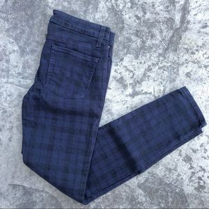 Splendid Windowpane Plaid Skinny Jeans